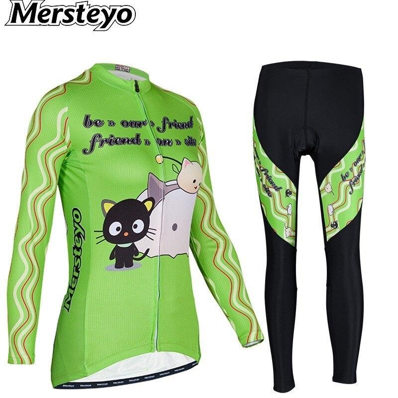 Printemps automne hiver femmes cyclisme vêtements Jersey vêtements porter à manches longues costume vélo vtt veste ensemble pantalon vélo Ropa Ciclismo