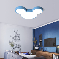DX Modern Led Ceiling Lights Creative Color Luminaire Kids Children Bedroom Remote Control Lamp Mickey Fixture Dimmable Lustre