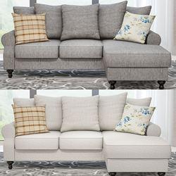 Sofa narożna z tkaniny Panana z odwracalnym leżak Sofa krzesło zmywalne ubrania + poduszki w Sofy do salonu od Meble na