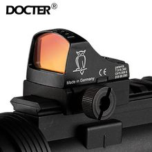 Visão red | | red dot rifle scope micro ponto reflex holográfico ponto vista óptica caça escopos airsoft rifle mini ponto(China)