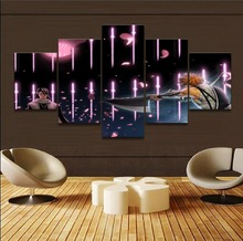 5 Panel Anime Bleach Byakuya Kuchiki Ichigo Kurosaki Pictures Home Decor Boys Room Wall Art Painting Canvas Print Modern Artwork