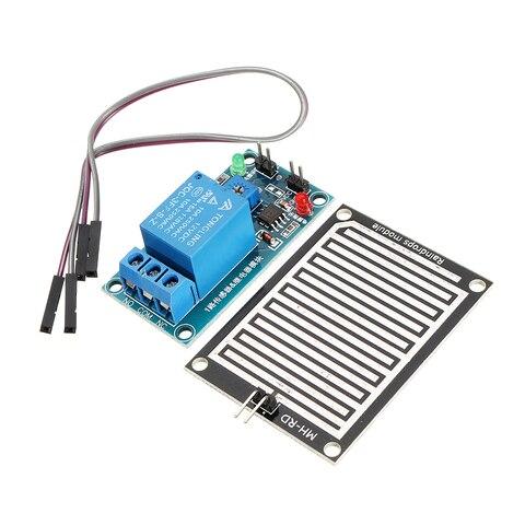 Módulo de Relé Chuva para Arduino Raindrop Controlador Foliar Umidade Waterless Interruptor Sensor 12 v