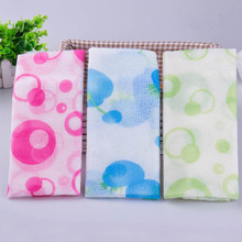 Portable Mesh Shower Towel Body Washing Scrubbers Towel Cloth Exfoliate Puff Scr