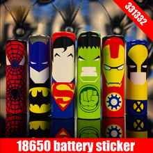 Original 331332 protector skin 18650 battery protected wrapper super hero wrap sticker for e cigarette