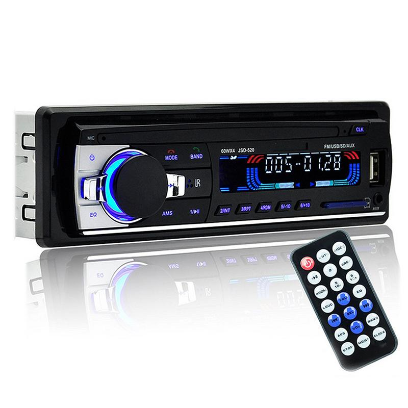 Image 3 - Professional Car Radio Stereo Player Bluetooth Phone AUX IN MP3 FM USB 1 Din Remote Control 12V Car Audio DVD-in Car Radios from Automobiles & Motorcycles