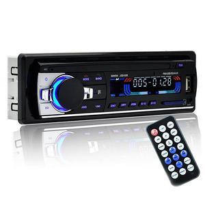 Image 3 - Profesyonel Araba Radyo stereo çalar Bluetooth Telefon AUX IN MP3 FM USB 1 Din Uzaktan Kumanda 12 V Araba Ses DVD