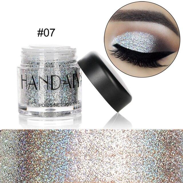 HANDAIYAN Holographic Sequin Diamond Colorful Glitter Gel Shiny Body Mermaid Festival Powder Pigment Makeup Cosmetics TSLM1