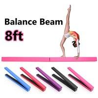 8Ft Folding Balance Training Beam Women Body Train Cushion Adult Children's Gymnastics Gym Training Equipment 5 Colors
