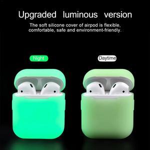 Image 5 - 부드러운 실리콘 휴대용 커버 블루투스 airpods 헤드폰 야간 조명 보호 케이스 스크래치 방지 보호 상자 애플