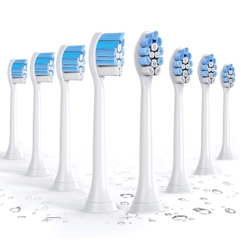 HX9034 8 PCS escova de Dentes Elétrica Cabeças de Substituição para Philips Sonicare G2 Optimal Cuidados de Goma C2 Ideal Placa de Defesa