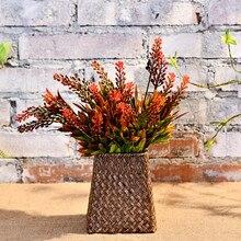 Factory Store American Pastoral Supplies Fresh Plastic Simulation Bouquet Artificial Flowers Plant Spray Wheat Scene Roa