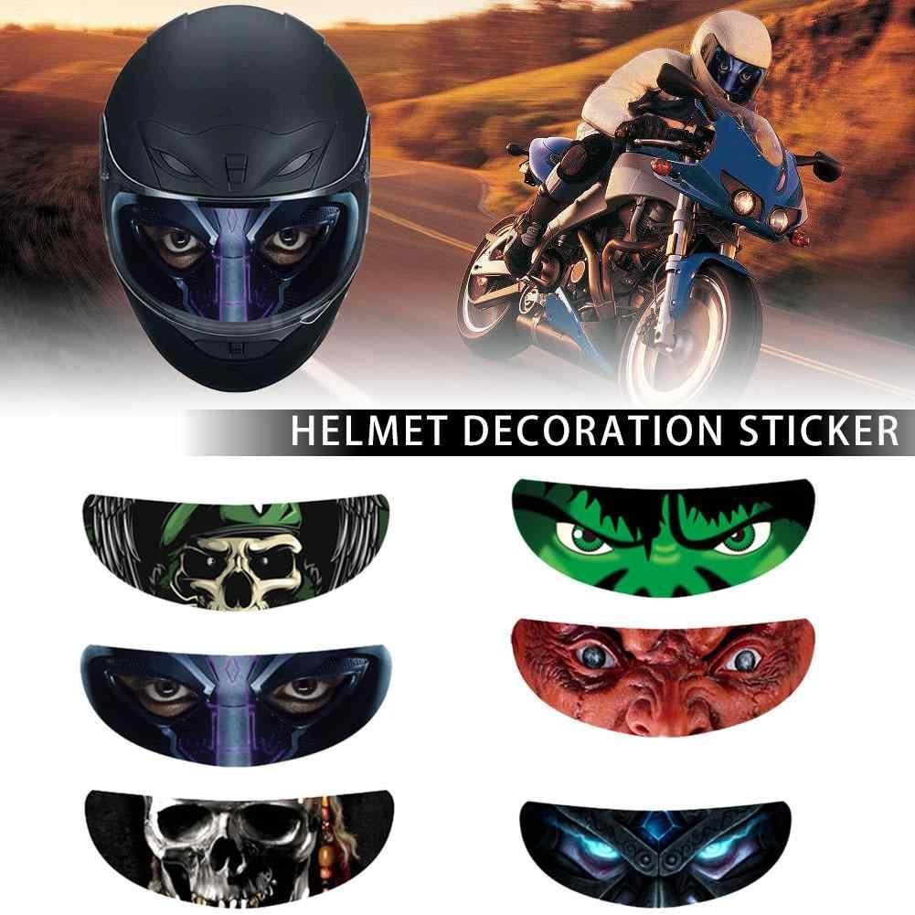 Helm Dekorasi Stiker Dilepas Balap Sepeda Motor Lensa Helm Visor Stiker Keren Bordiran Kepribadian Film Lensa Stiker