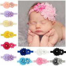 12PCS Multicolor Baby Hairband Fashion Rhinestone Flower Decor Hair Wrap Band Cute Accessory Jewelry
