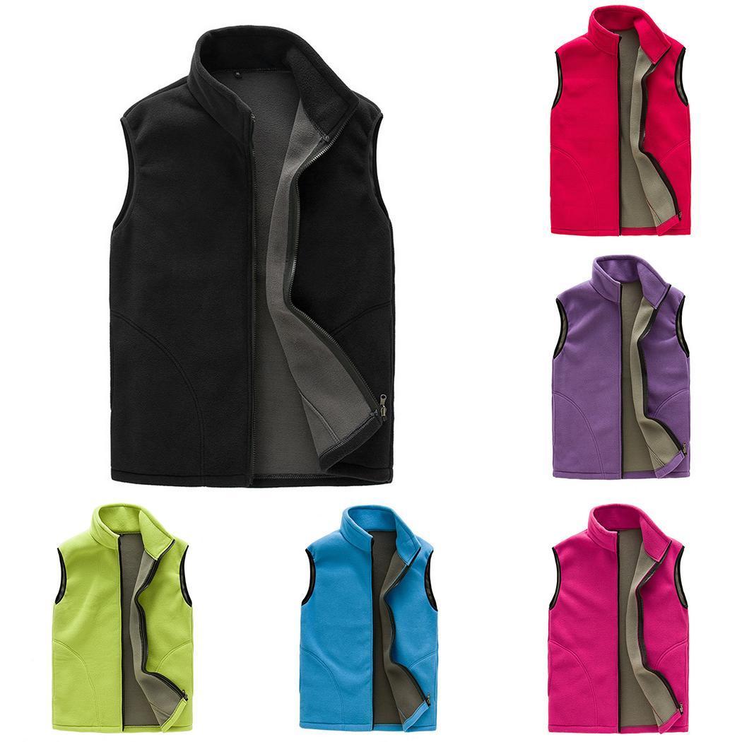 Men/Women Spring Fleece Softshell Vest Outdoor Coat Hiking Climbing Trekking Fishing Unisex Sleeveless Jackets