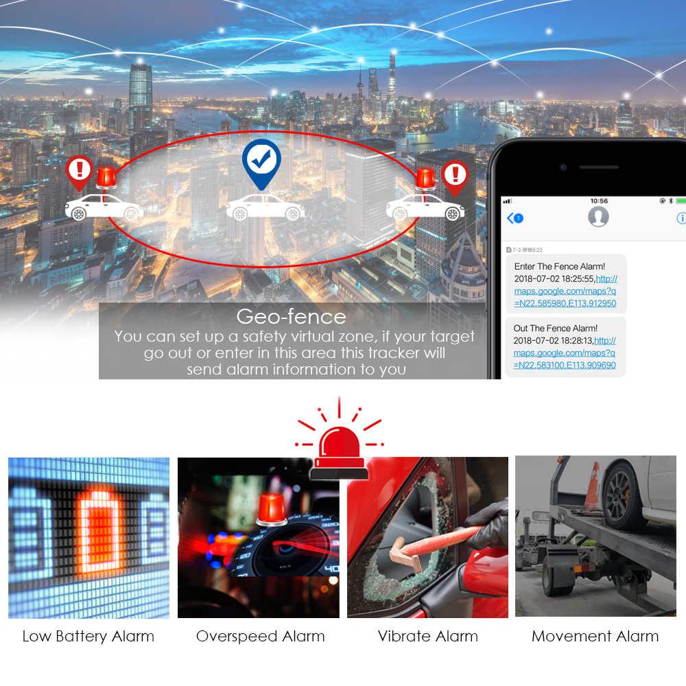 Автомобильный GPS трекер TKSTAR TK905, 3G, 4G, 5000 мАч, длительное время автономной работы, водонепроницаемый, GSM, GPS, LBS, приложение для отслеживания по