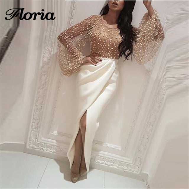 0be2612ade US $171.82 29% OFF|2019 Luxury Long Evening Dresses Robe de soiree 2019  Turkish Pearls Long Formal Prom Dress Saudi Arabia Pageant Gowns Galajurk  -in ...
