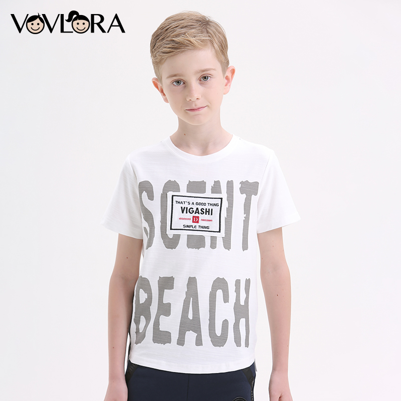 Cotton T-Shirts For Boys 2018 Kids T Shirts Tops Summer Printed Letter Children Clothes Fashion Size 7 8 9 10 11 12 13 14 Years lowell настенные часы lowell 11809g коллекция glass page 1