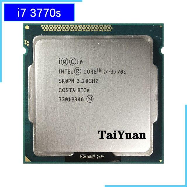 인텔 코어 i7 3770S i7 3770 S i7 3770 S 3.1 GHz 쿼드 코어 8 코어 65W CPU 프로세서 LGA 1155