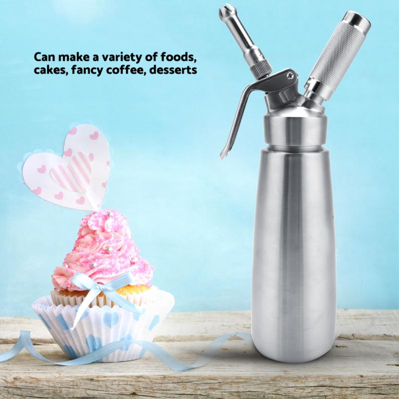 Cream-Dispenser Dessert Kitchen-Tools 1000ml With Three-Nozzles Stainless-Steel Professional