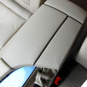 For BMW 5 Series E60 2004 2005 2006 2007 2008 2009 2010 Car Center Armrest Box Pad Microfiber Leather Cover car styling center control armrest box skin cover black microfiber leather with blue stitching for toyota rav4 rav 4 2006 2014