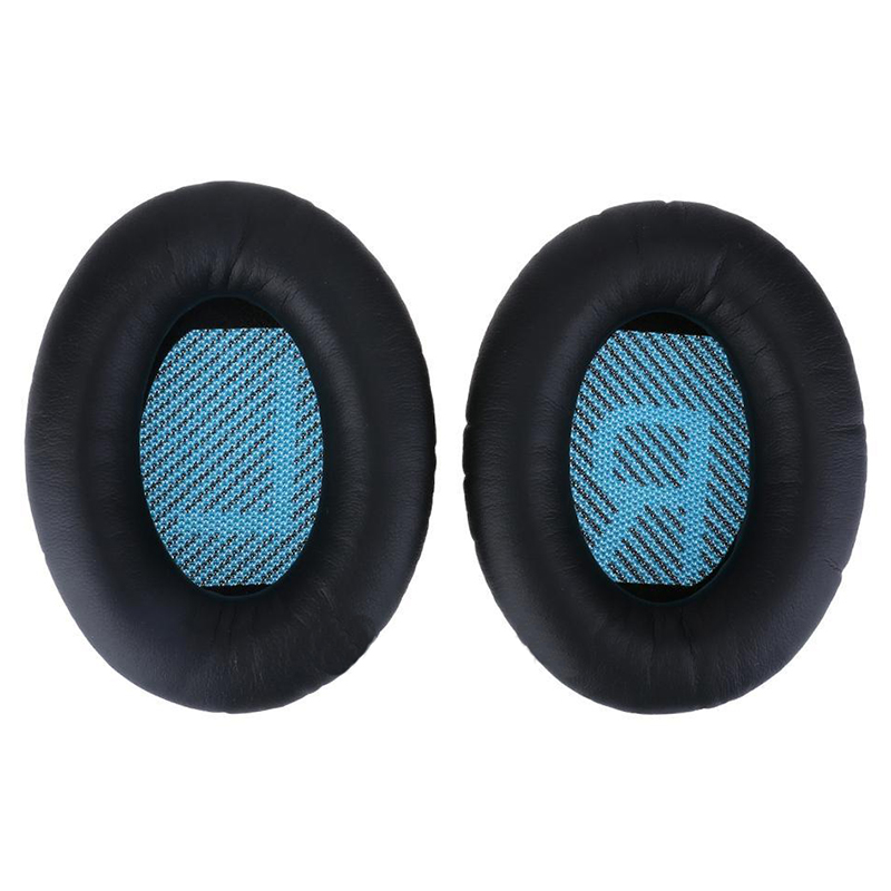 2 X Soft Replacement Ear Pads Ear Cushion for QC15 AE2 QC25 QC35 Headphones - Black+Blue