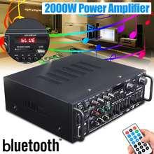 bluetooth 2.0 Channel 2000W Audio Power HiFi Amplifier 326BT 12V/220V AV Amp Spe