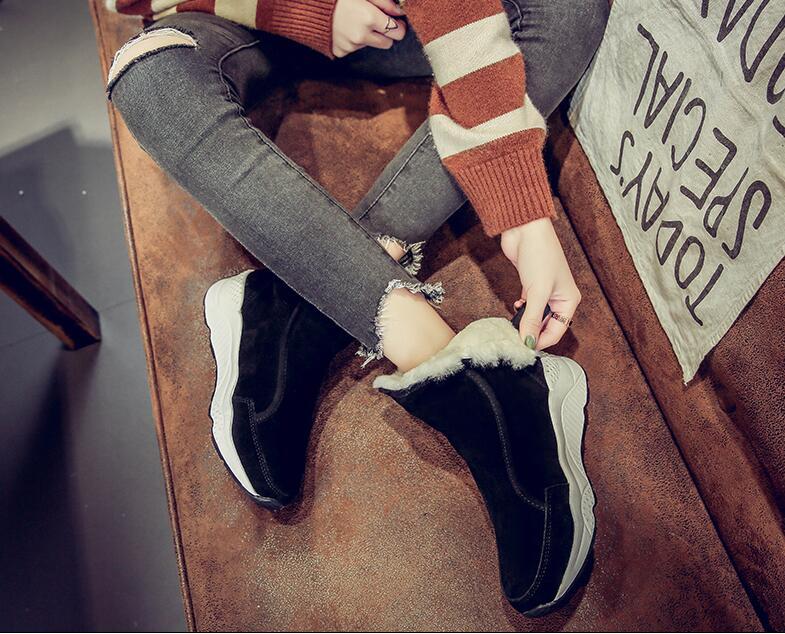 Les Court D'hiver Bérets Noir Hiver Femme B 2019 orange Velours D'été Femmes Demi Chaudes De Neige Sauvage Printemps Pour Plus Caoutchouc En Bottes chaussures Femelle Zqw8Ott