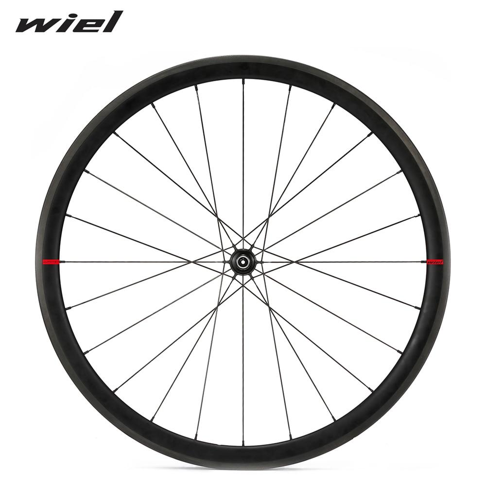 38mm Clincher Carbon Wheels Powerway R13 Ceramic Bearing Hub Road Bike Wheelset