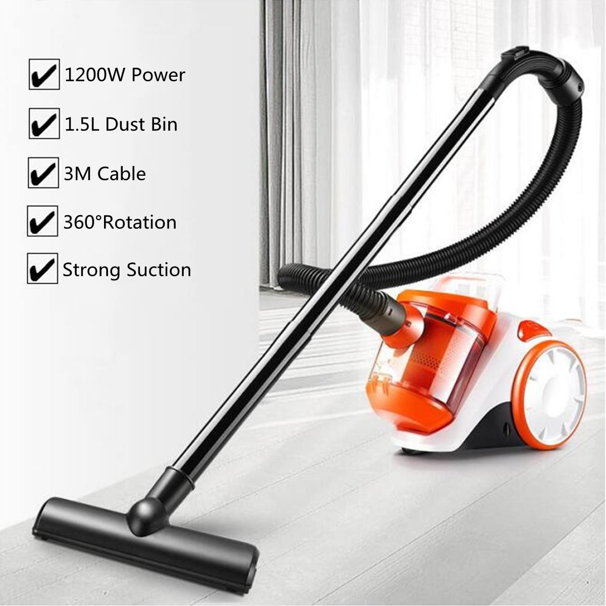 Black Corded Handheld Home &Commercial Vacuum Cleaner Aspirator Large Suction Capacity Powerful Aspirator AppliancesBlack Corded Handheld Home &Commercial Vacuum Cleaner Aspirator Large Suction Capacity Powerful Aspirator Appliances