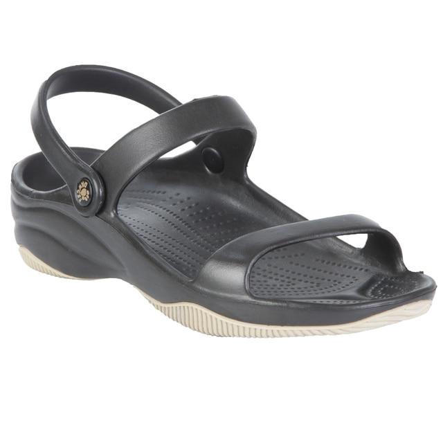 Kids' DAWGS Premium 3-Strap Sandals - Black with Tan