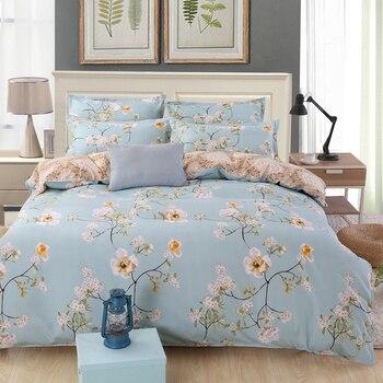 Цветок постельное белье цветочный Комплект постельного белья Королева Король размер пододеяльник кашне простыни плоские простыни наволоч...