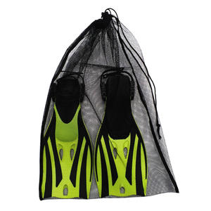 Bag Scuba-Diving-Mesh Swimming Drawstring Water-Sports for Travel Gym-Gear Black 64x46cm