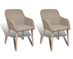 Vidaxl 2 sztuk krzesła do salonu wygodne wypoczynek krzesło wysokiej jakości krzesła do jadalni domu dekoracyjne zrelaksować się siedzenia