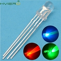 100X Ultra-Bright Round Tri-Color water clear 4pin F5 5mm RGB Common Anode LED Red Green Blue Emitting Diodes Led Lamp Bulb