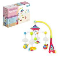 Baby Bed Bell Star Projector Cartoon Rattles Baby Puzzle Bed Bell Toy Remote Control Musical Box With 108 Melodies Musical Cute