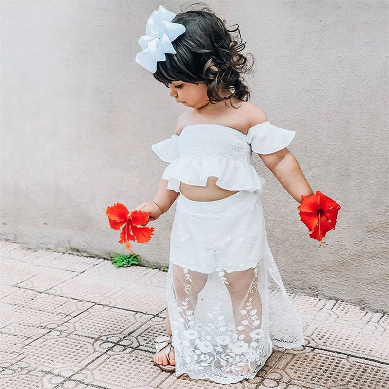 a0e60cc10e4fb קנו בגדים לבנות | 1-5T Infant Kids Baby Girl Floral Clothing Flower ...