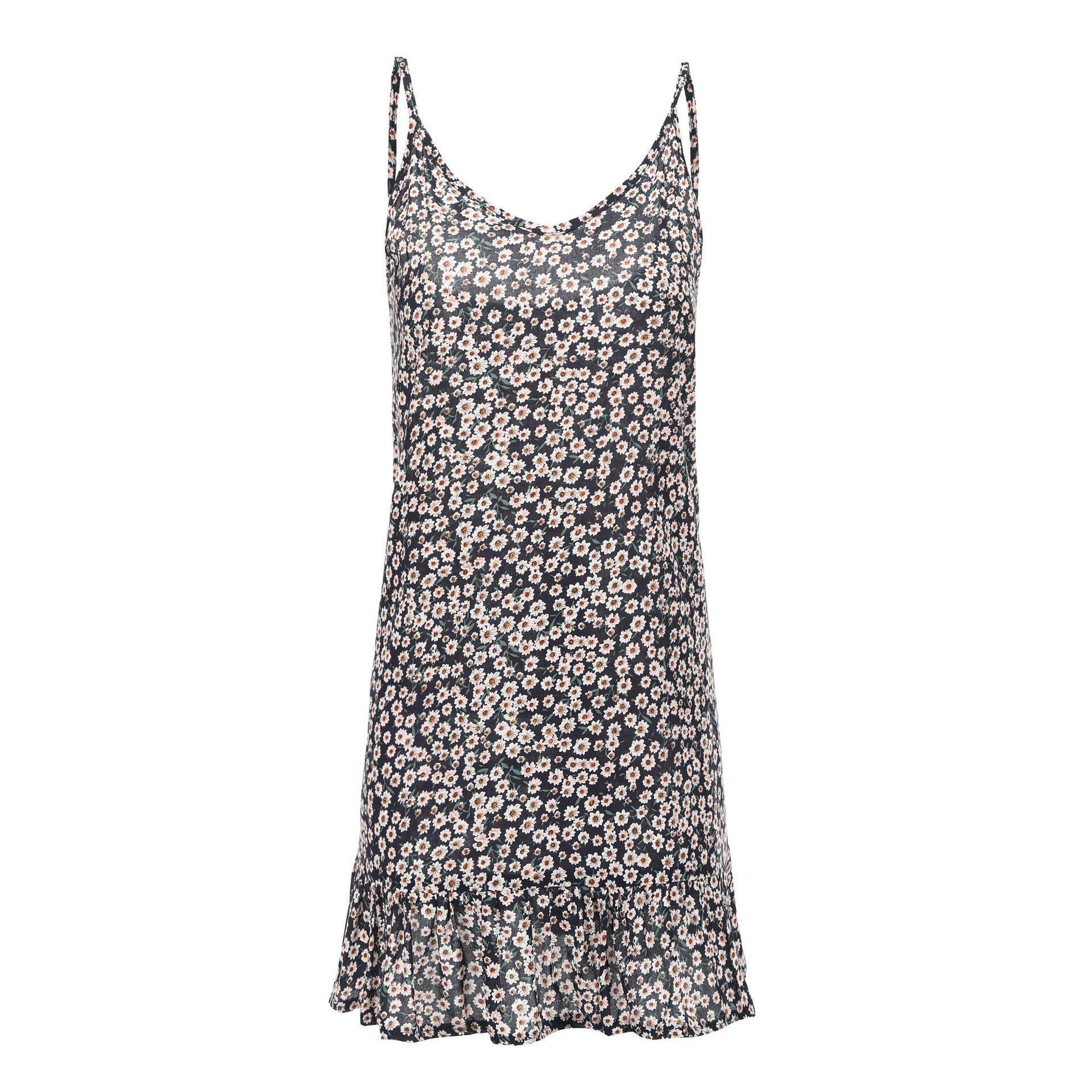Loose Sexy Backless Women Dress Boho Strap Sleeveless Summer Dresses Casual Ruffles Mini Beach Dress Print Party Vestido 2019 in Dresses from Women 39 s Clothing