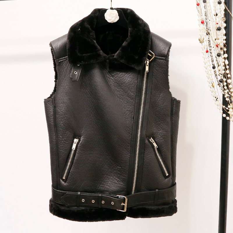 2019 Promotion New Nylon Chaleco Mujer Coletes Vest Women Punk Style Solid Pockets Zippers Turn down Collar Autumn Winter