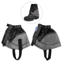 купить 1 Pair Short Shoe Gaiter Ultra Light Ankle Gaiter Coated Nylon Ankle Walking Cover Outdoor Skating Climbing Short Leg Gaiters дешево