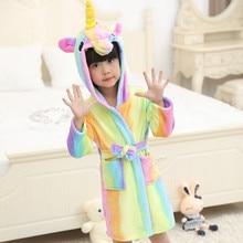 90f042b08f Inverno Per Bambini Accappatoio Arcobaleno Unicorn Accappatoio Con  Cappuccio Per Ragazzi Delle Ragazze Dei Pigiami Camicia Da No.
