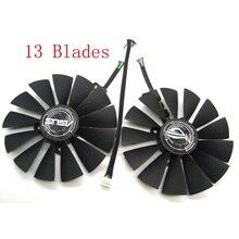 T129215SM DC12V 0.25AMP графика/Видеокарта кулер вентилятор для ASUS STRIX RX570 4G игровая видеокарта охлаждающий вентилятор