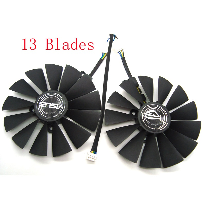 Free Shipping T129215SM DC12V 0.25AMP Graphics / Video Card Cooler Fan FOR ASUS STRIX RX570 4G GAMINGGraphics Card Cooling Fan