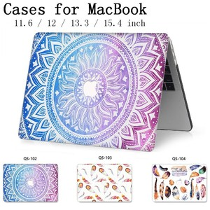 Image 1 - For Notebook MacBook Laptop New Case Sleeve For MacBook Air Pro Retina 11 12 13.3 15.4 Inch With Screen Protector Keyboard Cove