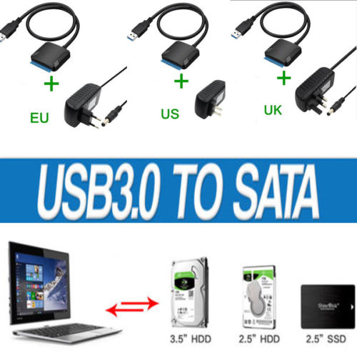 Image 2 - USB3.0 to 2.5 3.5 SATA Hard Drive HDD SDD Converter Adapter PC Cable-in Computer Cables & Connectors from Computer & Office