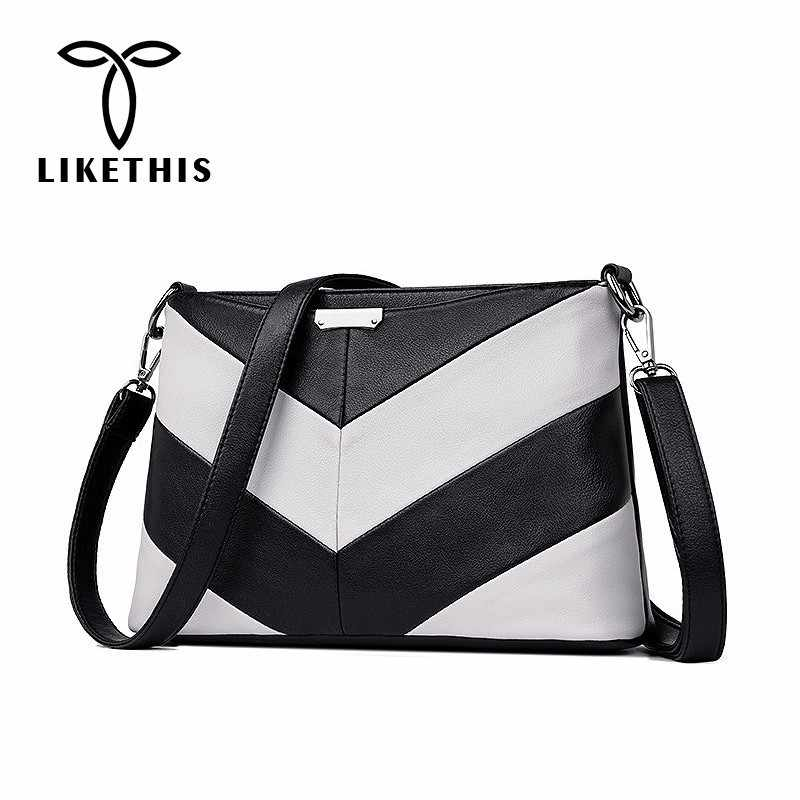 fb025a3cd LIKETHIS Shoulder Bags Leather Women Crossbody Bag For Woman 2019 Fashion  High Quality Retro Women Leather