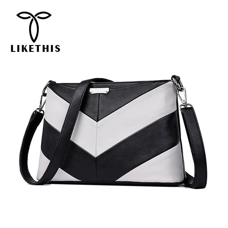 57747078fcb8 LIKETHIS сумки на плечо кожаные женские сумки через плечо для женщин 2019  Мода Высокое качество Ретро