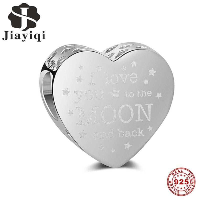 Amar Jiayiqi 2019 de Prata Da Forma 925 Jóias de Prata Esterlina Beads Fit Colar Charm Bracelet Para As Mulheres DIY Acessórios