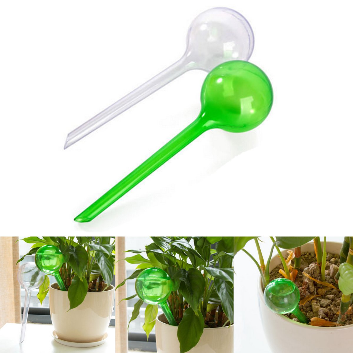 Portable Flower Automatic Watering Device Houseplant Plant Pot Bulb Globe Plastic Water Cans Garden House Waterer Water Cans image
