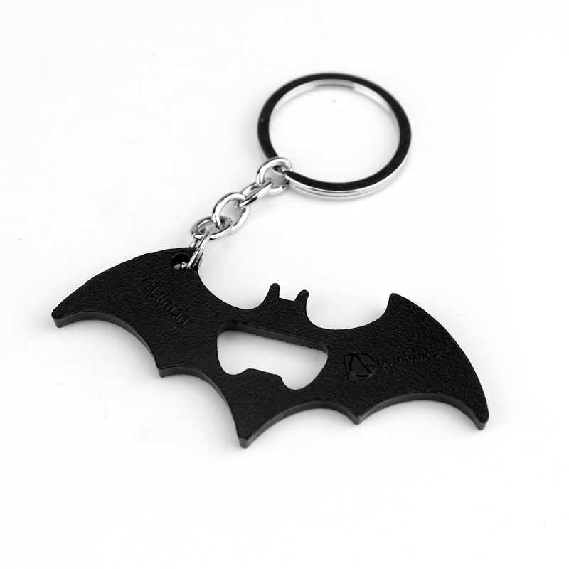 Caliente DC película de la justicia Batman abrebotellas llavero vengadores superhéroe Batman llavero regalo de joyería para los Fans del hombre