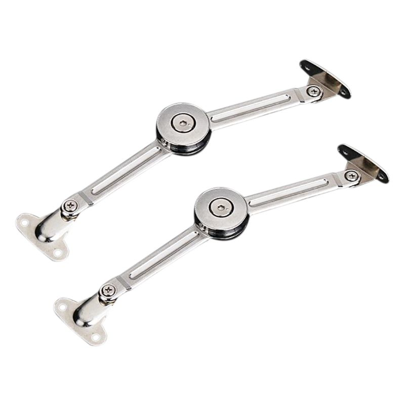 2pcs Top Quality Zinc Alloy Adjustable Stays Door Lift Support Furniture Stay Support Hinge Cabinet Door Kitchen Cupboard Hing 2019 Official